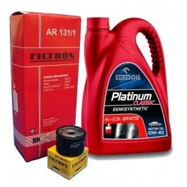 Pachet schimb Filtre+Ulei 10W40 Benzina
